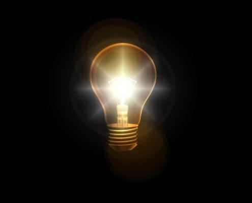 Glühbirne, Denken, Idee, Lösung